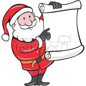 santa holding blank list clipart. Commercial use image # 388138