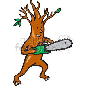 tree man chainsaw clipart. Royalty-free image # 388248