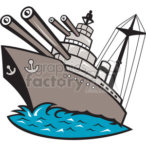 battleship big guns clipart. Commercial use image # 388258