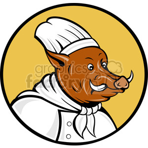 boar hog chef clipart. Royalty-free image # 388298
