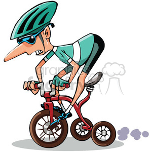 racer on tricycle clipart. Commercial use image # 388416