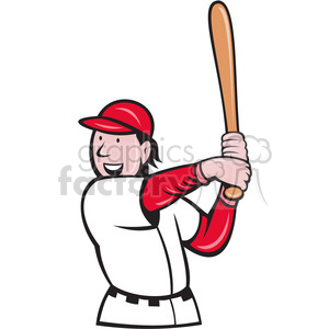 baseball batting stance clipart. Commercial use image # 388436