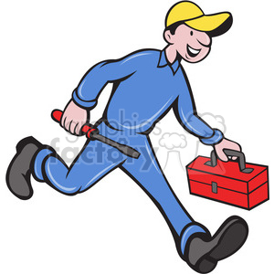repairman carrying screwdriver clipart. Royalty-free image # 388446