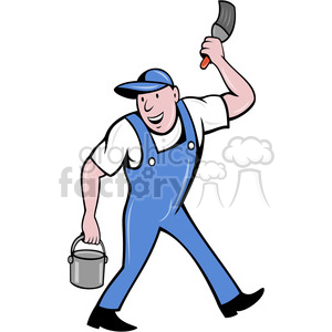 painter with bucket clipart. Commercial use image # 388476