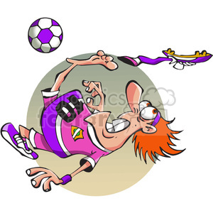 cartoon soccer player losing his shoe clipart. Royalty-free image # 388506