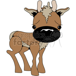 Big Nose Deer 02 clipart. Royalty-free image # 388546