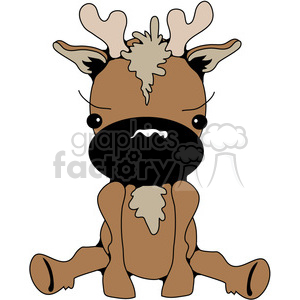 Big Nose Deer 03 clipart. Royalty-free image # 388586