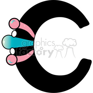 Letter C Cuff Bracelet clipart. Commercial use image # 388596