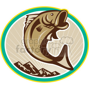 fish jumping in the air clipart. Royalty-free image # 388626