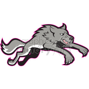 wolf attacking clipart. Commercial use image # 388636