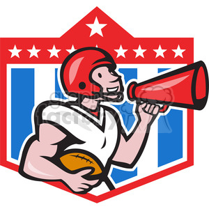 american football bullhorn clipart. Commercial use image # 388646