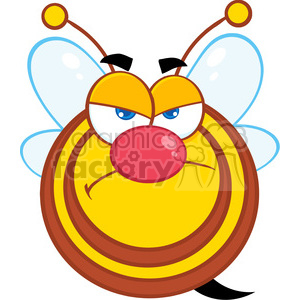 5584 Royalty Free Clip Art Angry Honey Bee Cartoon Mascot Character clipart. Royalty-free image # 388676