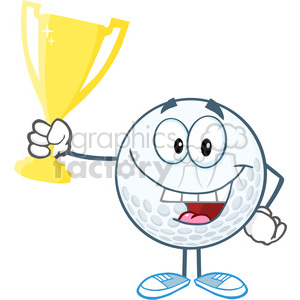 5737 Royalty Free Clip Art Happy Golf Ball Holding Golden Trophy Cup Clipart Royalty Free Gif Jpg Png Eps Svg Ai Pdf Clipart 388807 Graphics Factory