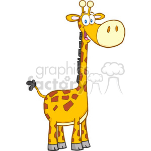 5626 Royalty Free Clip Art Happy Giraffe Cartoon Mascot Character clipart. Commercial use image # 388847