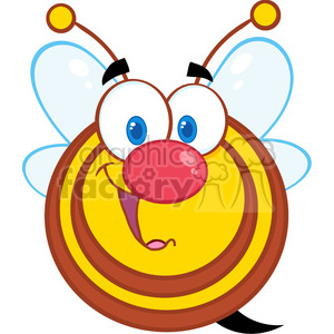 5581 Royalty Free Clip Art Cute Honey Bee Cartoon Mascot Character clipart. Royalty-free image # 388898