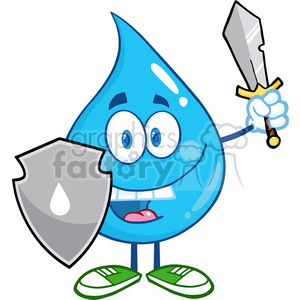 royalty free 6212 royalty free clip art water drop cartoon mascot rh graphicsfactory com clip art of watermelon clip art of waterfalls