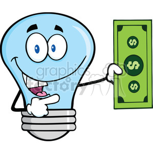 cartoon funny lightbulb idea money currency