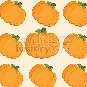 6652 Royalty Free Clip Art Pumpkin Background Seamless Pattern photo. Royalty-free photo # 389725