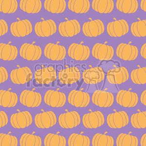 6647 Royalty Free Clip Art Pumpkin Background Seamless Pattern In Purple