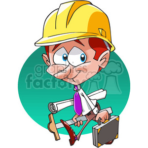 architect character cartoon clipart. Royalty-free image # 389823