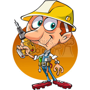 cartoon construction worker clipart. Royalty-free image # 389843