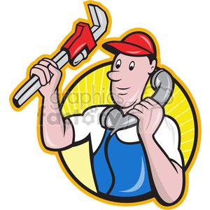 plumber telephone wrench clipart. Royalty-free image # 389938