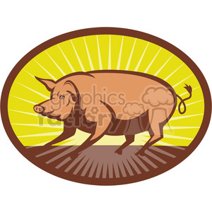 NX pig side sunburst10 clipart. Royalty-free image # 389968