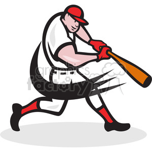 baseball hitter bat side low clipart. Commercial use image # 389978