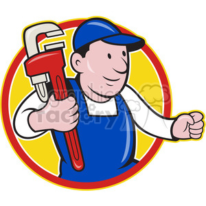 plumber monkey wrench running 001 clipart. Commercial use image # 389988