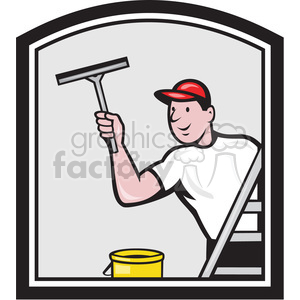 window cleaner squegee square clipart. Royalty-free image # 390014
