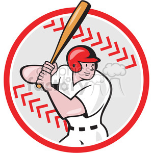 cartoon retro baseball sports batter