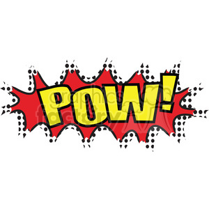 pow onomatopoeia clip art vector images clipart. Commercial use image # 390034