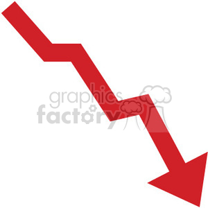 red graph  going down