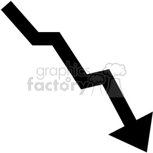 chart graph down arrow arrows lose profits statistics RG decline