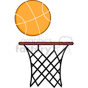 Royalty Free RF Clipart Illustration Abstract Basketball Hoop With Ball clipart. Royalty-free image # 390234