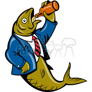 herring fish drinking clipart. Commercial use image # 390364