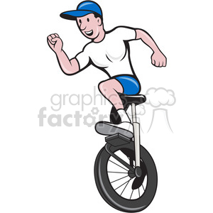 man on unicycle arms out front clipart. Royalty-free image # 390386