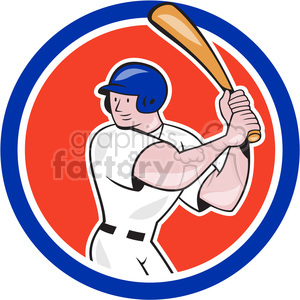 baseball player batting lift leg side clipart. Royalty-free image # 390470