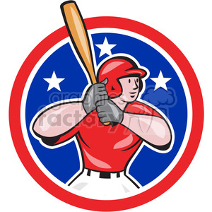 baseball hitter bat left clipart. Royalty-free image # 390482