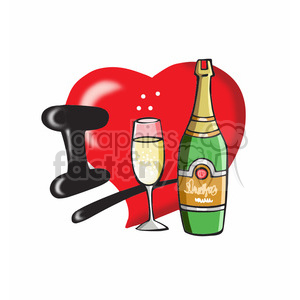 I love champagne cartoon clipart. Royalty-free image # 390728