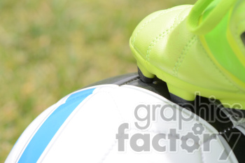 soccer shoes on ball clipart. Royalty-free image # 391187