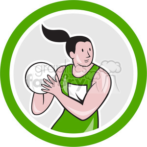 female volleyball palyer holding ball clipart. Royalty-free image # 391362