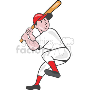 baseball batter batting leg up clipart. Royalty-free icon # 391372