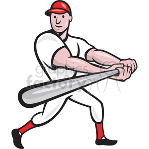 baseball player batting side low clipart. Commercial use image # 391382