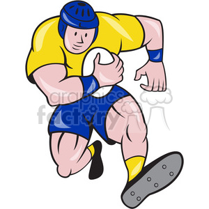 rugby player running up front OL clipart. Royalty-free image # 391392
