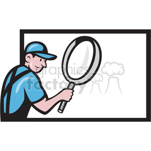 worker magnifying glass billboard search clipart. Royalty-free image # 391412