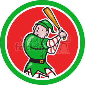 elf batting stance logo clipart. Royalty-free image # 391422