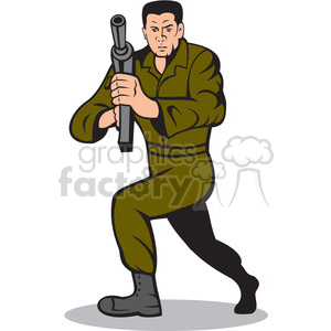 man with gun shooting front clipart. Commercial use image # 391432
