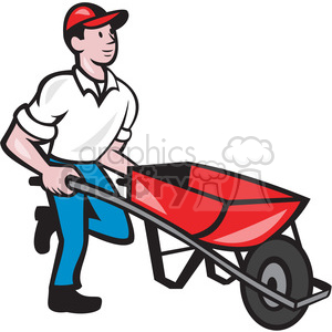 cartoon character mascot people funny wheelbarrow construction worker working job jobs careers