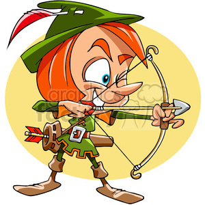 cartoon funny comic comical robin+hood bow+arrow